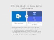 Office 365: Kalenderdaten in Google Calendar integrieren und aktuell halten