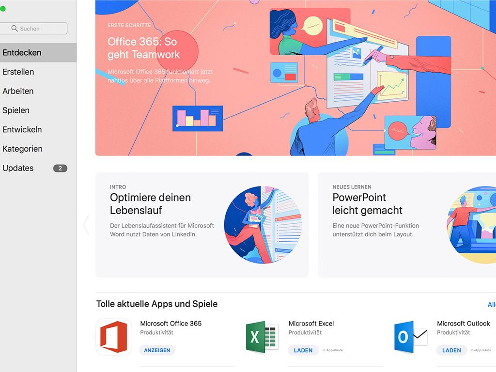 Microsoft Bietet Office 365 Im Mac App Store An Zdnetde