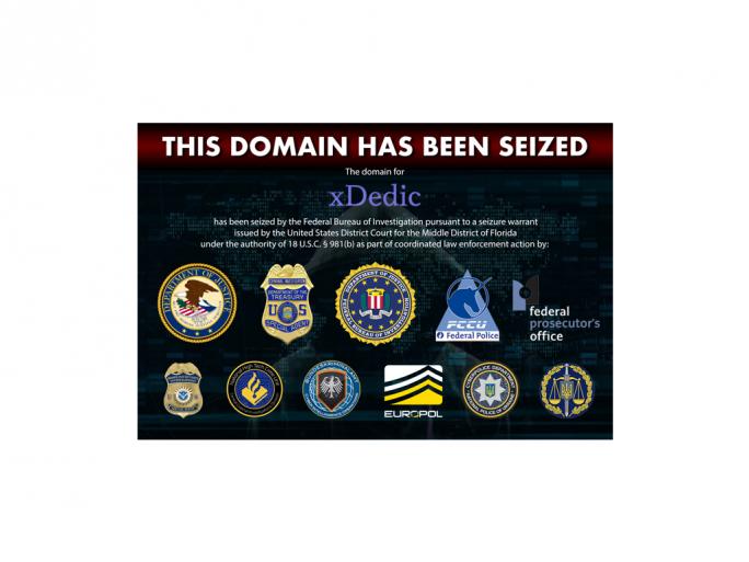 Beschlagnahmte xDedic-Domain (Bild: Europol)
