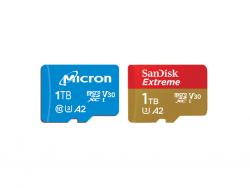 1-TByte-MicroSD-Karten von Micron und SanDisk (Bild: Micron/SanDisk)