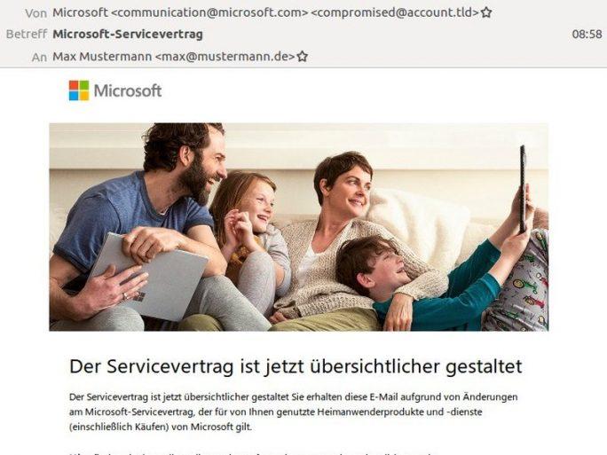 Microsoft Servicevertrag Zustimmen