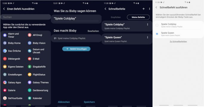 Galaxy S10: Bixby-Taste mit Kurzbefehl belegen (Bild: ZDNet.de).