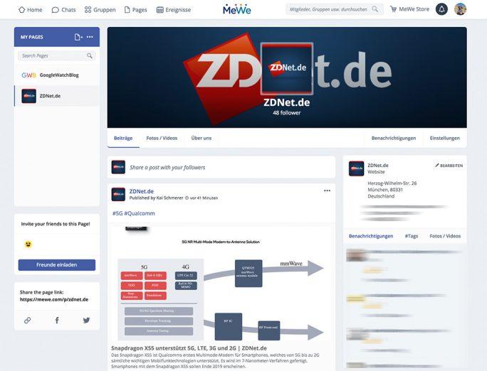 ZDNet.de ist auf MeWe vetreteten (Bild: ZDNet.de).