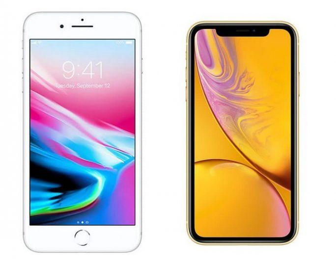 Smartphone: Klassisch und mit Aussparung (Notch) (Bild: Apple)