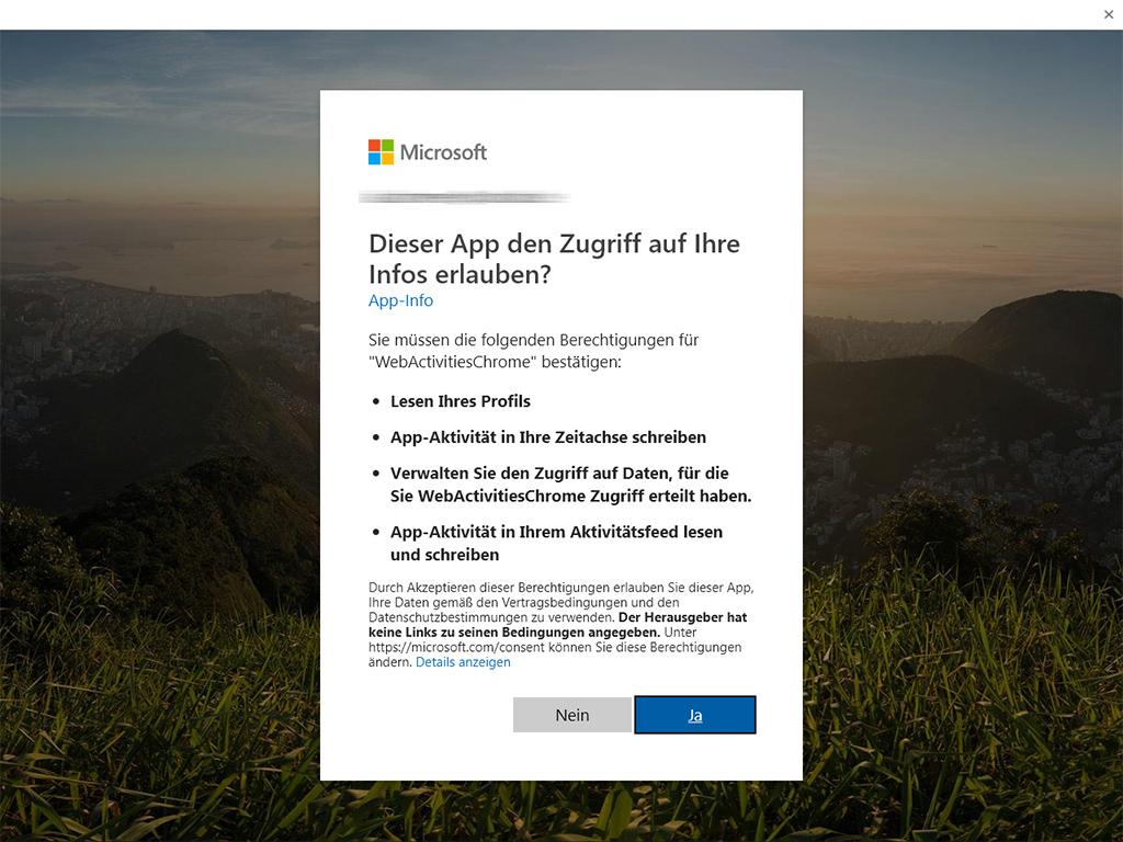 Windows 10: Web Activities sorgt für Anzeige der Chrome-Browser-Historie in der Zeitleiste