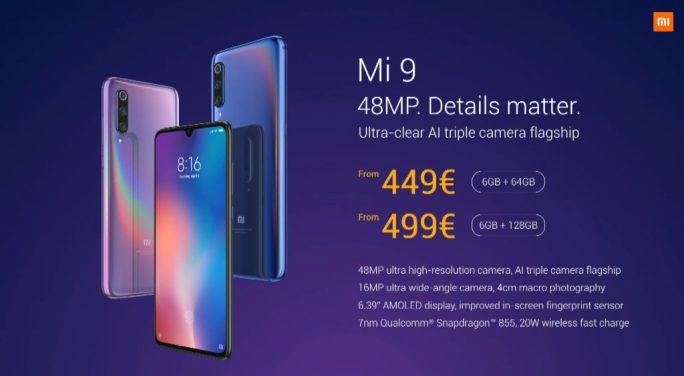 Xiaomi Mi 9: Preise für Europa (Screenshot: ZDNet.de)