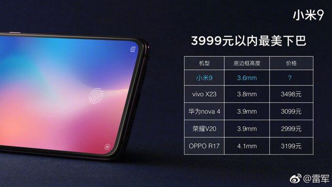 Xiaomi Mi 9: Wettbewerb bis 4000 Yuan (Bild: Xiaomi)