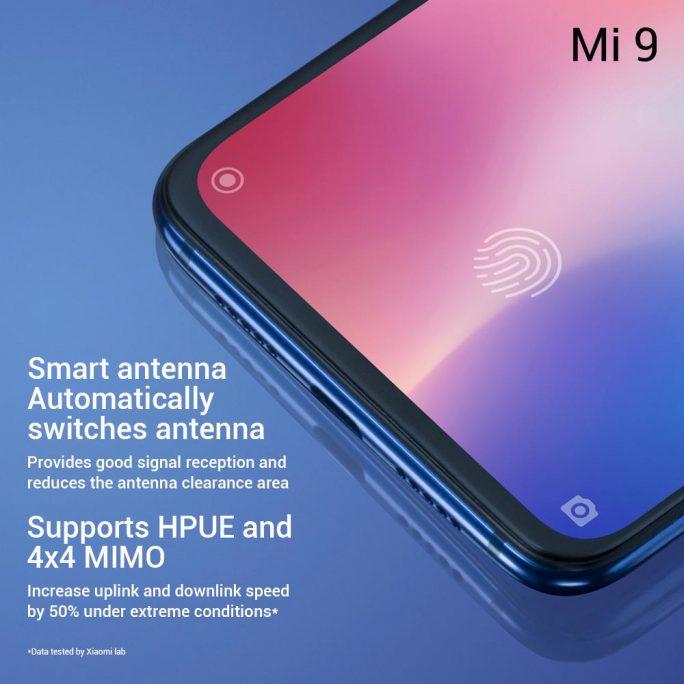 Xiaomi Mi 9: Verbessertes Antennen-Design (Bild: Xiaomi)