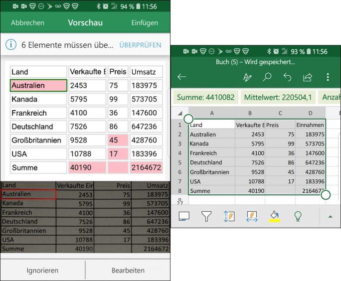 Excel: Daten aus Bild importieren (Bild: Microsoft)