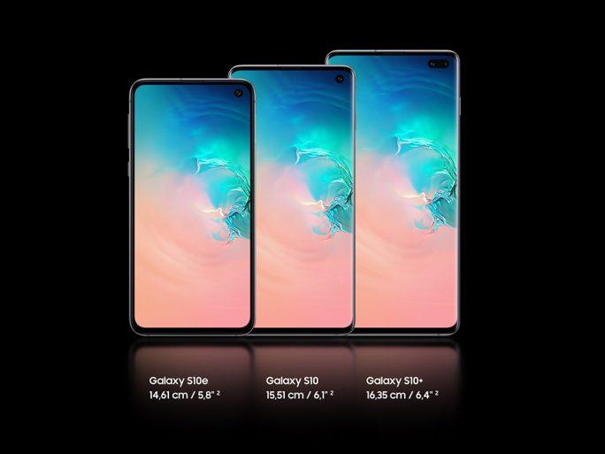 Galaxy S10e, S10 und S10+ (Bild: Samsung)