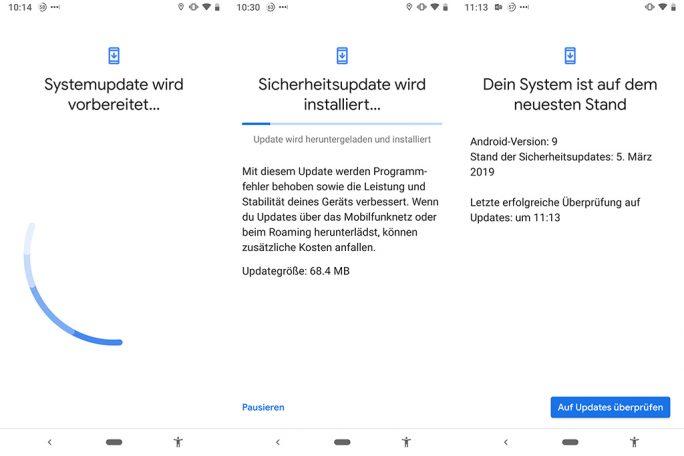 Android-Sicherheitspatch März für Pixel 3 (Bild: ZDNet.de)