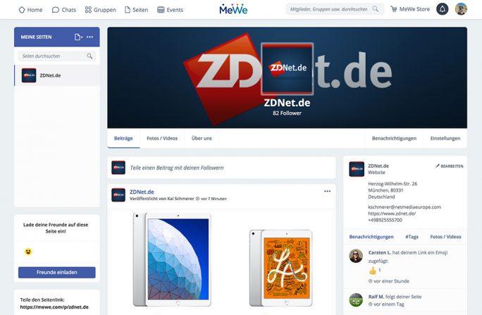 MeWe: ZDNet ist unter https://mewe.com/p/zdnet.de auf MeWe erreichbar (Bild: ZDNet.de)