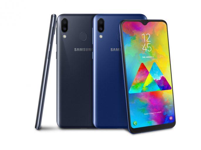 Samsung Galaxy M20 in Schwarz und Blau für 229 Euro (Bild: Samsung)