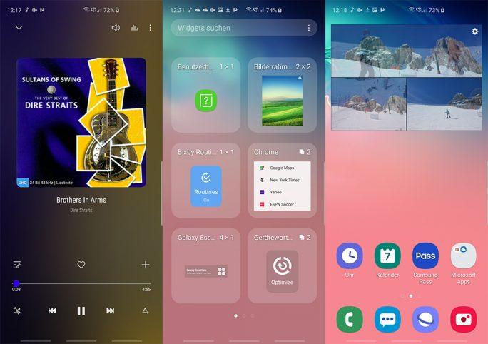 Samsung Galaxy S10+: Samsung Music, Bilderrahmen (Bild: ZDNet.de)