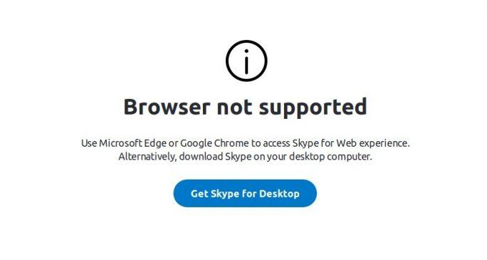 Skype Web nicht unter Linux und Firefox nutzbar (Bild: ZDNet.de)