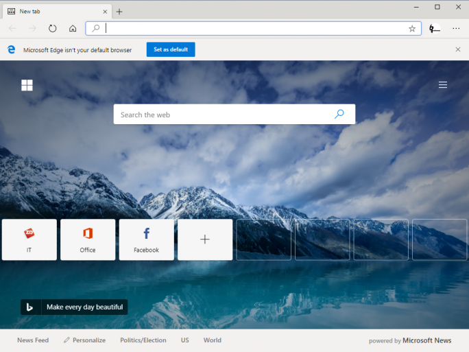 Edge auf Chromium-Basis (Screenshot: ZDNet.de)