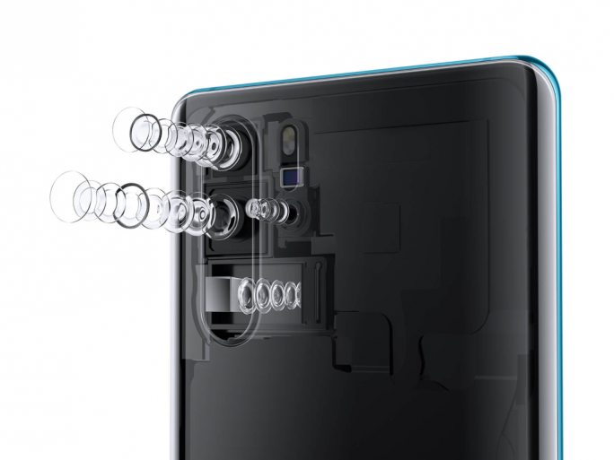 Linsensysteme des P30 Pro (Bild: Huawei)
