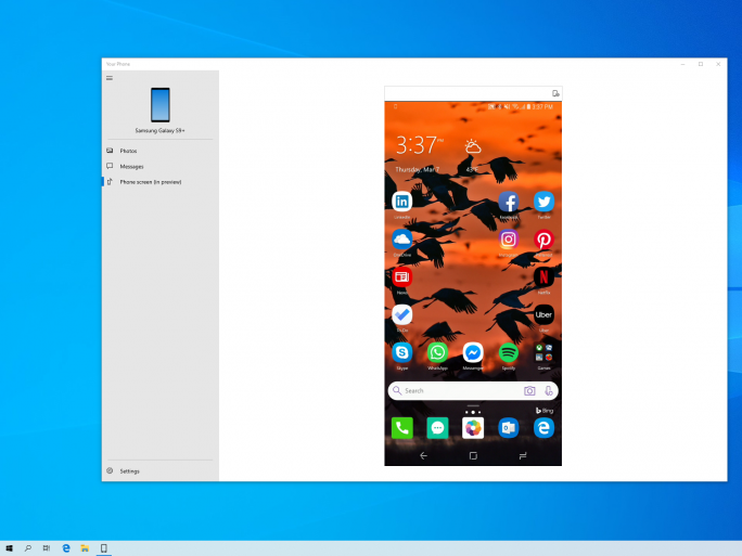 App-Mirroring (Bild: Microsoft)