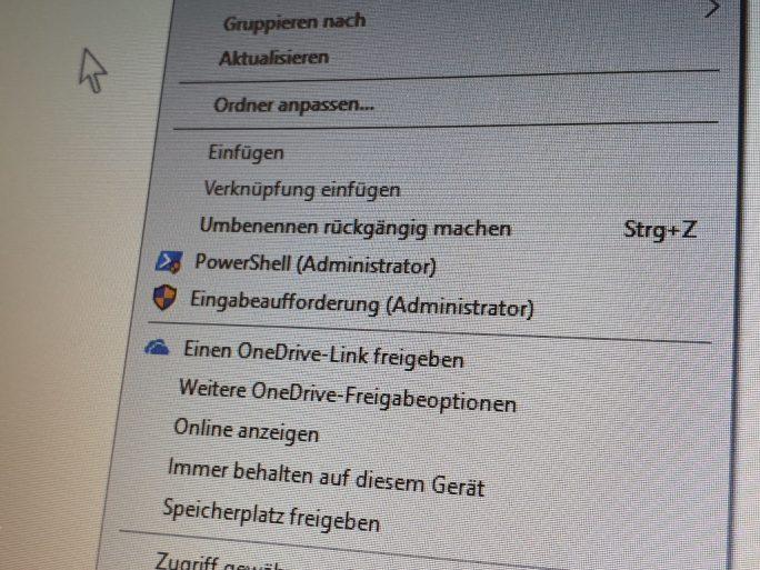 Eingbabeaufforderung-PowerShell-mit-Adminstratorrechten-aus-Kontextmenue-starten (Bild: ZDNet.de)