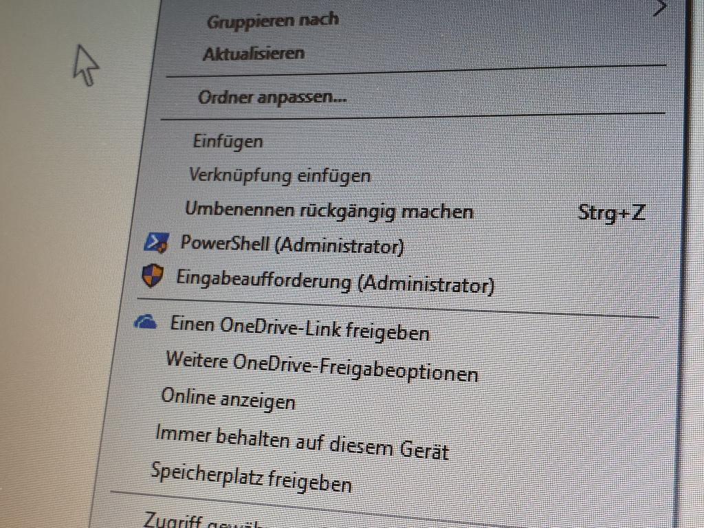 Windows 10: Eingabeaufforderung und PowerShell als Admin vom Kontextmenü starten
