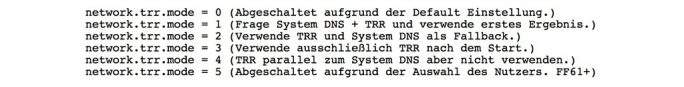 Firefox: DoH/TRR-Abstufungen (Quelle: Mozilla/ Privacy-Handbuch)