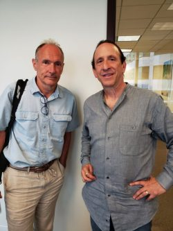 Mark Weinstein und Tim Berners Lee (Bild: Mark Weinstein)