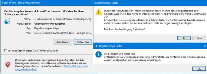 Registry-Eintraege bestätigen (Screenshot: ZDNet.de)