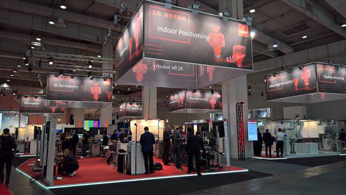 Ein wichtiges Thema war auf der Hannover Messe Industrie der industrielle Einsatz des 5G-Funknetzes (Bild: Ariane Rüdiger)