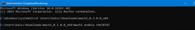 Windows 19H1: Einstellungen: Prämien aktivieren (Bild: ZDNet.de)