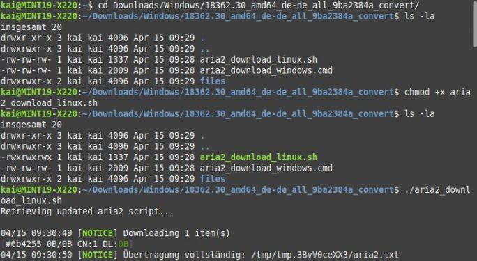 uupdump.ml: Linux-Skript für die Erstellung der Windows-ISO (Bild: ZDNet.de)