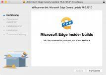 Erste Entwicklerversionen von Microsoft Edge für macOS veröffentlicht
