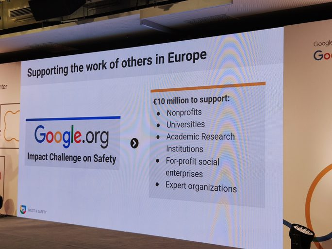 Google stellt 10 Millionen Euro für europäische Organisationen bereit, die sich mit dem Thema Sicherheit befassen (Bild: ZDNet.de).