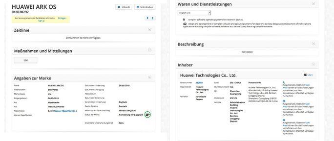 Huawei Ark OS (Screenshot: ZDNet.de)