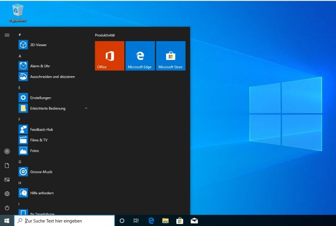 Windows 10 im dunklen Modus (Screenshot: Thomas Joos).