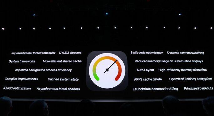 Apple iOS 13: Performanceverbesserungen (Screenshot: ZDNet.de)