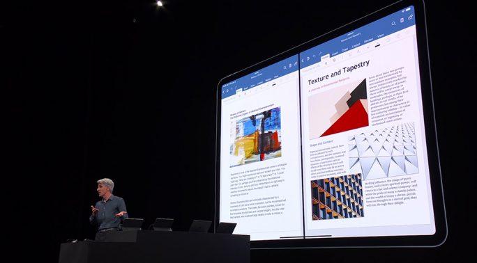 Apple iPadOS: Eine App, zwei Fenster (Screenshot: ZDNet.de)