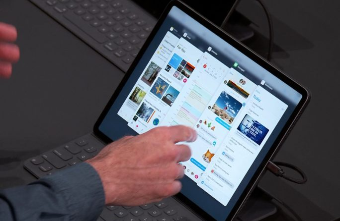 Apple iPadOS: App-Auswahl für lide Over verbessert (Screenshot:: ZDNet.de)