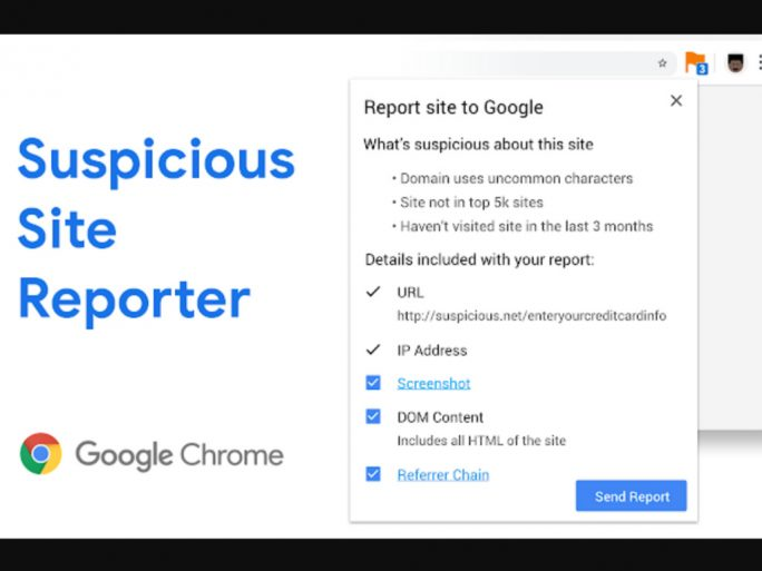 Chrome Suspicious Site Reporter (Screenshot: ZDNet.de)