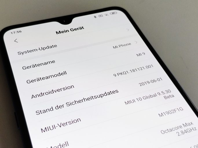 MIUI: Global-Beta Mi 9 (Bild: ZDNet.de)