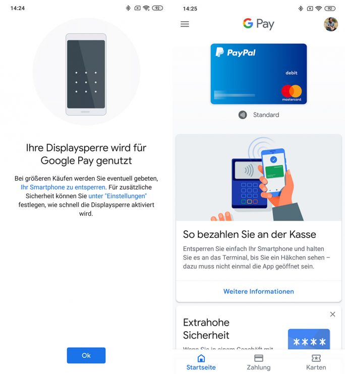 MIUI: Google Pay funktioniert mit der Beta-Version (Bild: ZDNet.de)