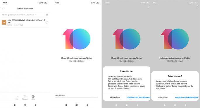 MIUI: Mit Update-Tool Beta-Version auswählen und installieren (Bild: ZDNet.de)