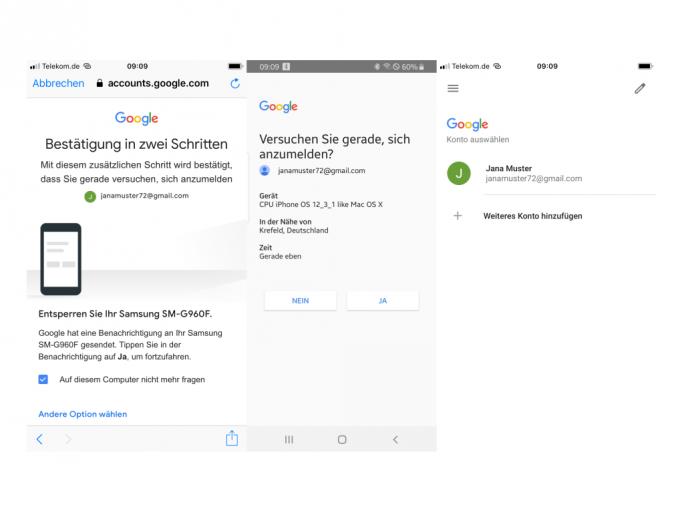 Android als zweiter Faktor für iOS (Screenshot: ZDNet.de)