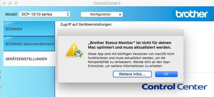 macOS 10.15 Catalina führt 32-Bit-Anwendungen nicht mehr aus (Screenshot: ZDNet.de)macos-32-Bit-Warnung