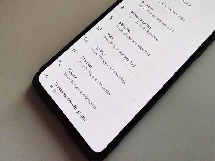 Android-Berechtigungen (Bild: ZDNet.de)