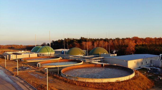 Komplette Kläranlage und Biogasanlage in Polen. (Bild: Nijhuis lores)