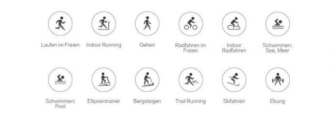 Amazfit GTR: Tracking für 12 Sportarten (Screenshot: ZDNet.de)