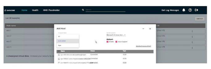 Die Nutzerschnittstelle seiner Management- und Supportlösung DIS (Datacore Insight Service) besitzt eine zeitgemäße Web-Optik (Bild: Datacore).