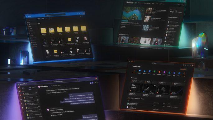 Dark Mode für Online-Apps (Bild: Microsoft)