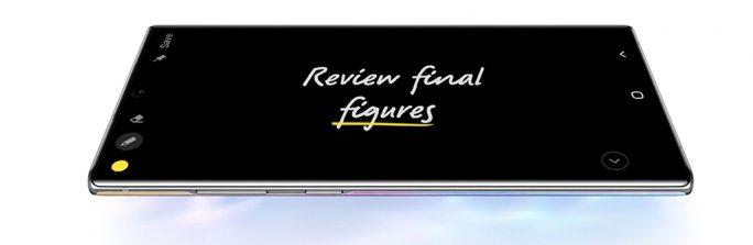 Galaxy Note 10: Ideen festhalten (Bild: Samsung)