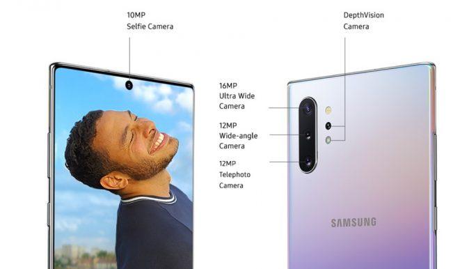 Galaxy Note 10+ mit Tiefenkamera (Bild: Samsung)